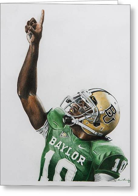 Universities Drawings Greeting Cards - Rgiii Greeting Card by Brian Broadway