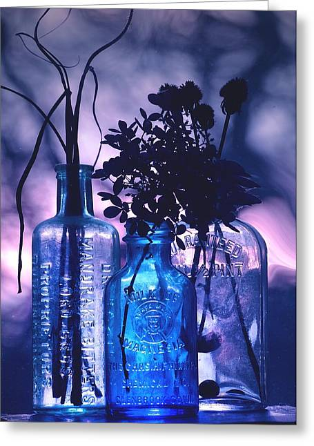Best Sellers -  - Pint Milk Bottle. Greeting Cards - Rhapsody in... Greeting Card by Arthur Miller