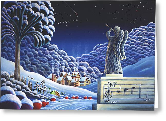 Ski Village Greeting Cards - Rhapsody In Blue Greeting Card by Andy Russell