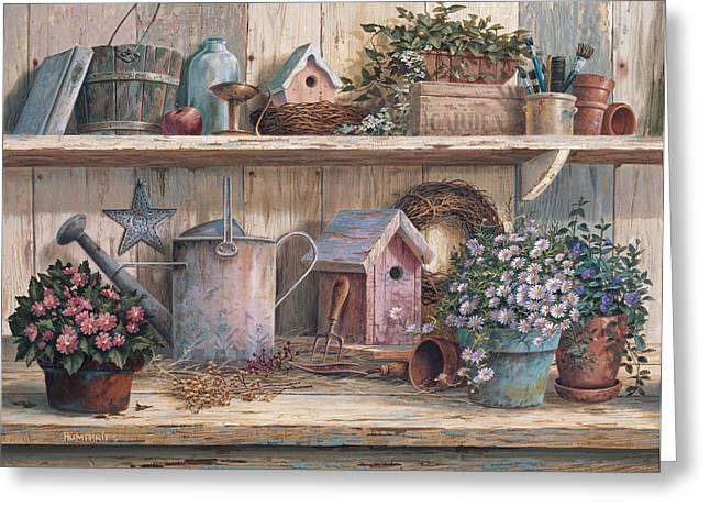 Watering Can Greeting Cards - Rhapsody in Rose Greeting Card by Michael Humphries