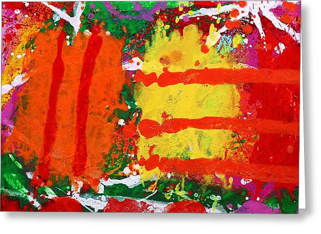 Expressionistic Greeting Cards - Rhapsody Greeting Card by John  Nolan