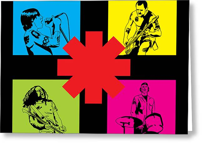 Rock Digital Art Greeting Cards - RHCP No.01 Greeting Card by Caio Caldas
