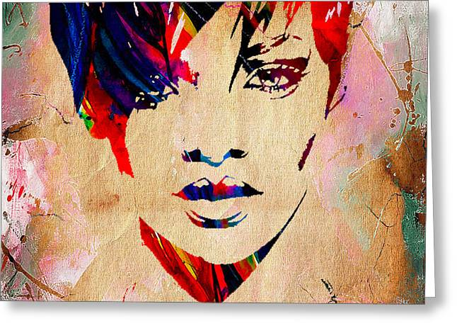 Pop Mixed Media Greeting Cards - Rhianna Collection Greeting Card by Marvin Blaine