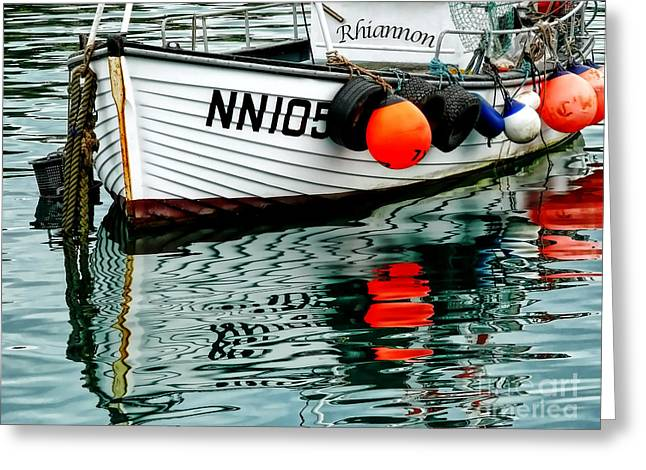 Fishing Boats Greeting Cards - Rhiannon  Greeting Card by Susie Peek