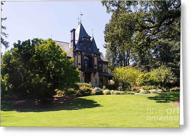 Napa Valley And Vineyards Greeting Cards - Rhine House At Beringer Winery St Helena Napa California DSC1722 Greeting Card by Wingsdomain Art and Photography
