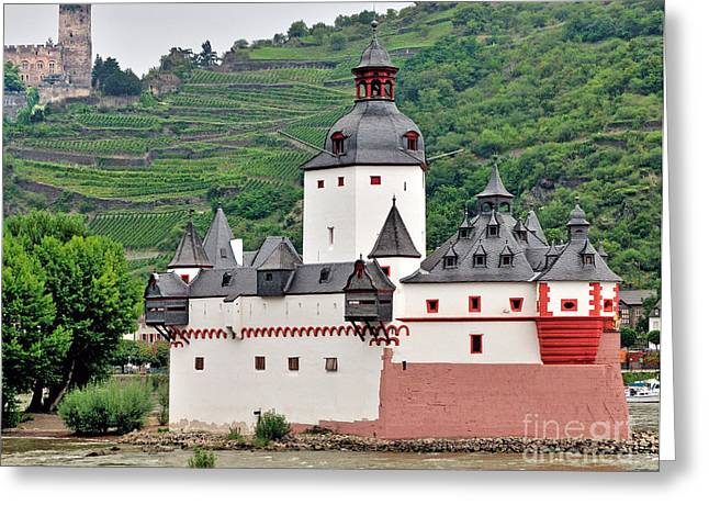 Altstadt Greeting Cards - Rhine River View Greeting Card by Jim Chamberlain