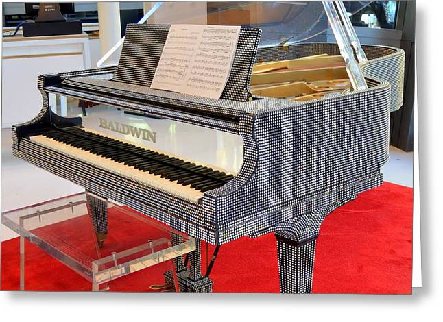 Liberace Greeting Cards - Rhinestone Piano Greeting Card by Mary Deal