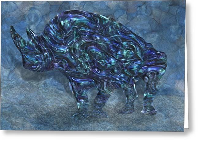 Rhinoceros Greeting Cards - Rhino 6 Greeting Card by Jack Zulli