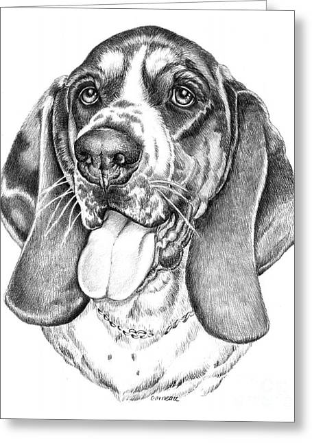 Pet Drawing Drawings Greeting Cards - Rhino Greeting Card by Catherine Garneau