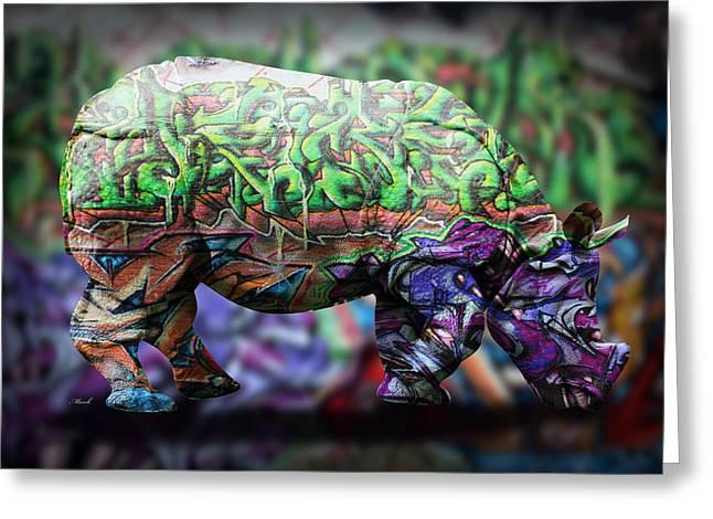 Emotive Greeting Cards - Rhino4 Greeting Card by Mark Ashkenazi