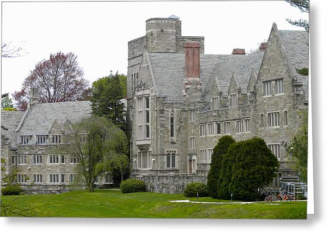 Quaker Greeting Cards - Rhoads Hall Bryn Mawr College Greeting Card by Nomad Art And  Design