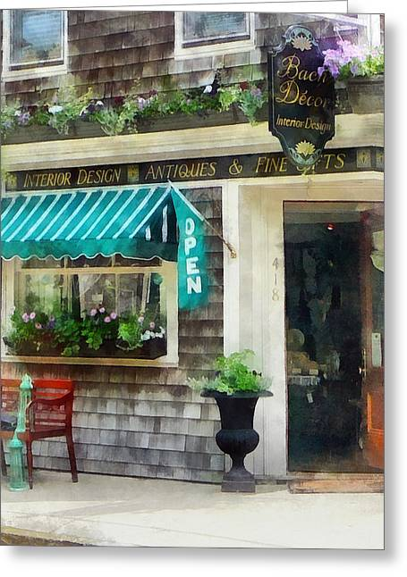 Rhode Island - Antique Shop Newport Ri Greeting Card by Susan Savad