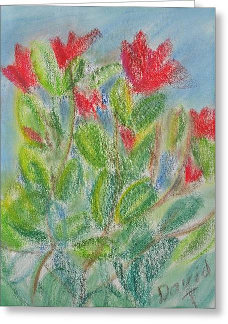 Pacific Northwest Pastels Greeting Cards - Rhododendron 1 Greeting Card by David Trotter