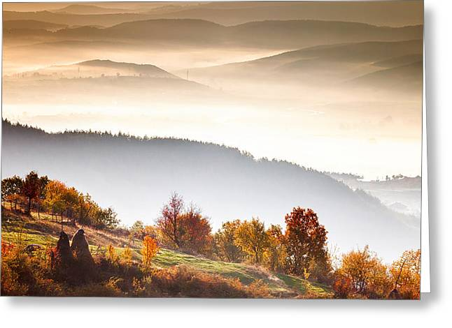 Bulgaria Greeting Cards - Rhodopean Morning Greeting Card by Evgeni Dinev