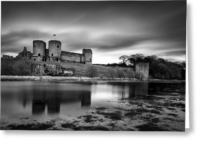 Fortification Greeting Cards - Rhuddlan Castle Greeting Card by Dave Bowman