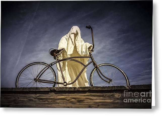 Last Supper Greeting Cards - Rhyolite Bicyclist  Greeting Card by Janis Knight