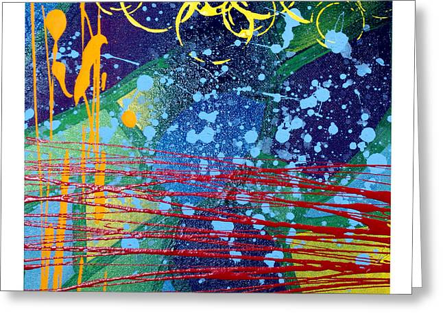 Web Of Life Paintings Greeting Cards - Rhythm and Melody  Greeting Card by Josh Brown