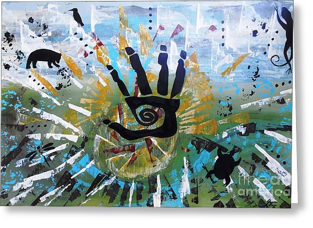 Heartbeat Paintings Greeting Cards - Rhythm of Life Greeting Card by Jean Fry