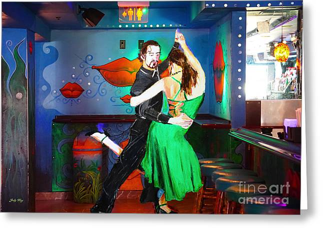 Tango Greeting Cards - Rhythm of the Dance Greeting Card by Judy Kay