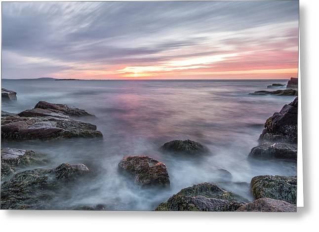 Coastal Maine Greeting Cards - Rhythmic Dawn Greeting Card by Jon Glaser