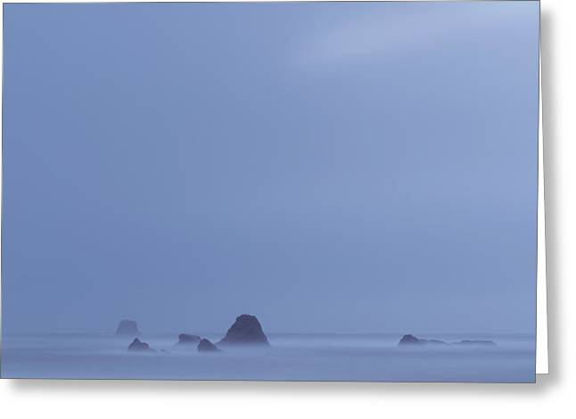 Foggy Beach Greeting Cards - Rialto Afternoon Greeting Card by Marco Crupi