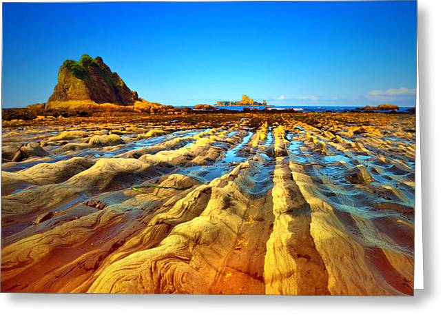 Monolith Greeting Cards - Rialto Beach at Low Tide Greeting Card by Tara Turner