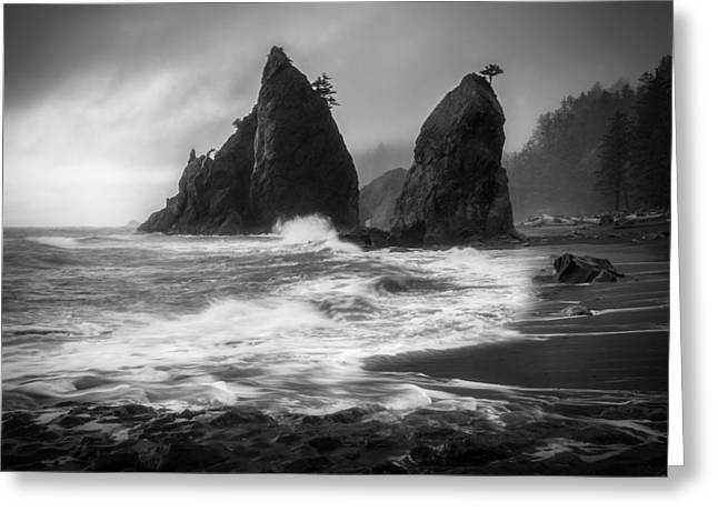 Wa Greeting Cards - Rialto Beach Greeting Card by Thorsten Scheuermann