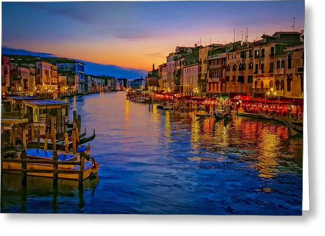 Himmel Greeting Cards - Rialto Evening Greeting Card by Andy Bitterer