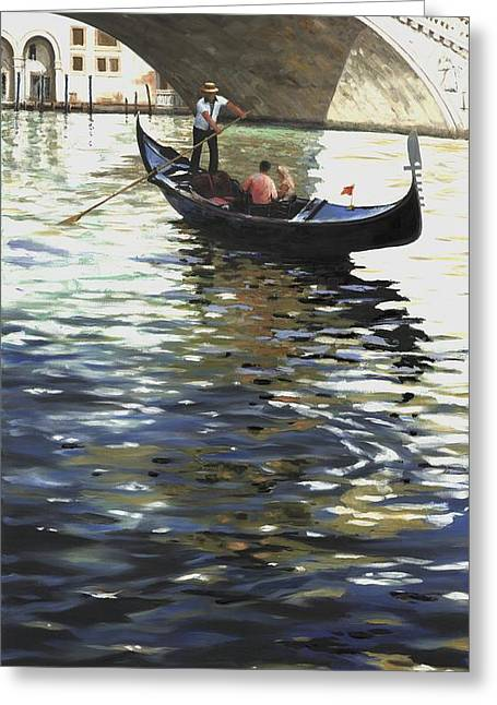 Michael Swanson Greeting Cards - Rialto Gondola Greeting Card by Michael Swanson