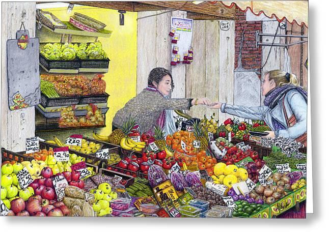 Rialto Market Greeting Card by Albert Puskaric