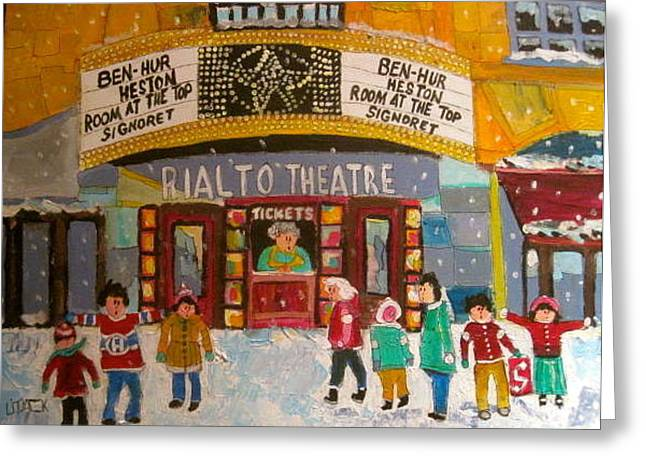 Litvack Greeting Cards - Rialto Theatre 1960 Greeting Card by Michael Litvack