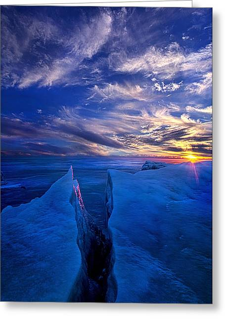Outdoors.color Greeting Cards - Ribband of Blue Greeting Card by Phil Koch