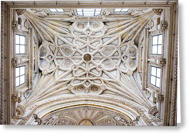 Mezquita Greeting Cards - Ribbed Vault Ceiling of the Mezquita Cathedral Greeting Card by Artur Bogacki