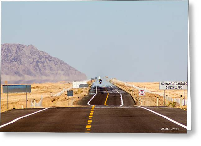 Saint Lo Greeting Cards - Ribbon of Asphalt Greeting Card by Dick Botkin