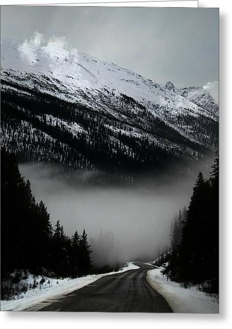 Light And Dark Greeting Cards - Ribbon of Highway Greeting Card by Shirley Sirois