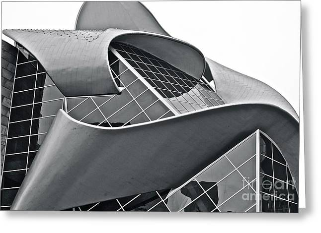 Stainless Steel Greeting Cards - Ribbon of Steel 1 Greeting Card by Linda Bianic
