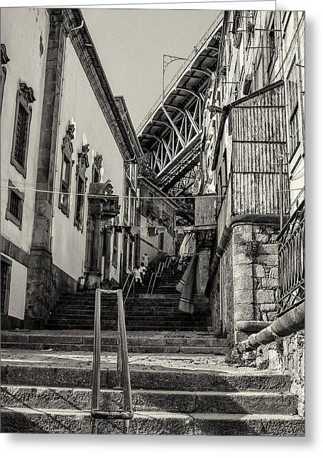 City Art Greeting Cards - Ribeira Stairs Greeting Card by Wilson Carvalho