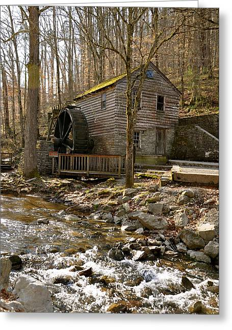 Recently Sold -  - Pond In Park Greeting Cards - Rice Grist Mill and Threshing Barn  Greeting Card by Sunny Phillips
