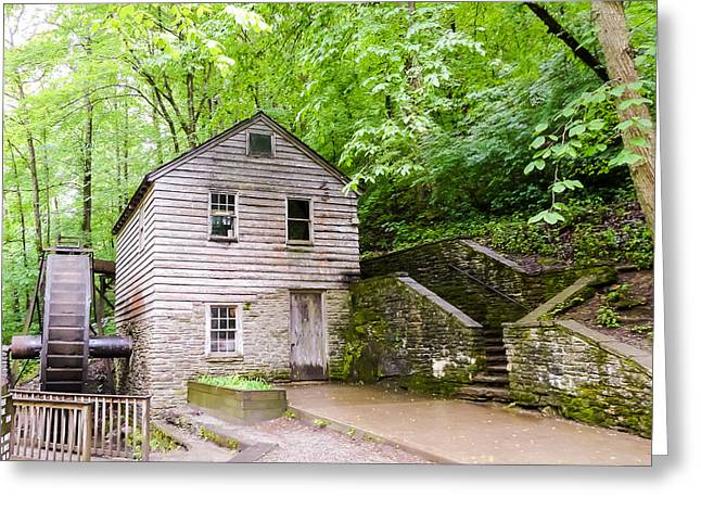 Tennessee Historic Site Photographs Greeting Cards - Rice Grist Mill Norris Dam State Park Tennessee Greeting Card by Cynthia Woods