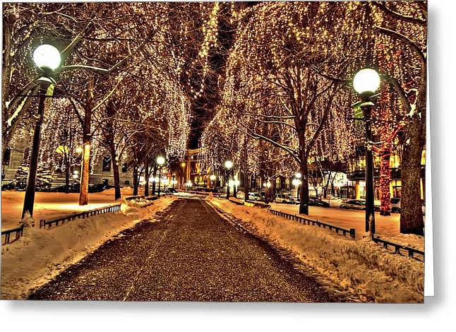 Luth Greeting Cards - Rice Park Saint Paul Greeting Card by Amanda Stadther