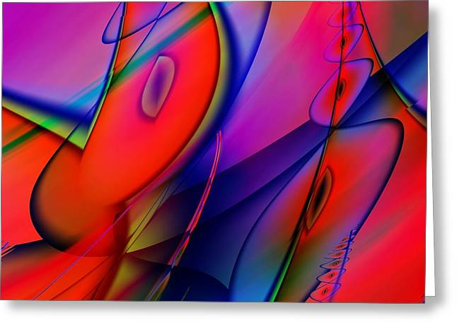 Abstract Shapes Greeting Cards - Rich Abstract 2 Greeting Card by Sharon Lisa Clarke