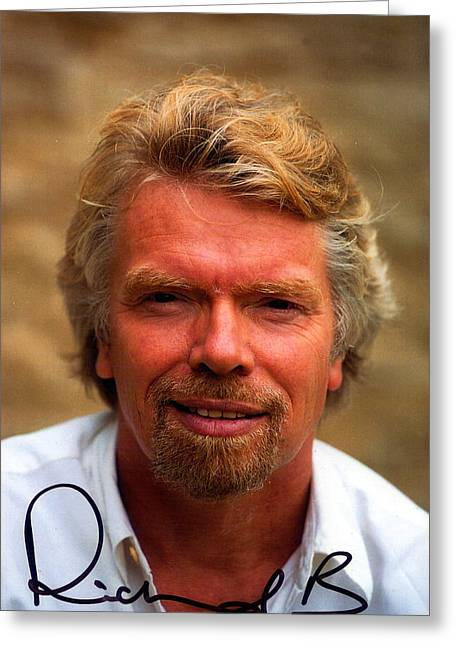Airways Greeting Cards - Richard Branson Greeting Card by Studio Photo