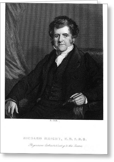 Sideburns Greeting Cards - Richard Bright (1789-1858) Greeting Card by Granger