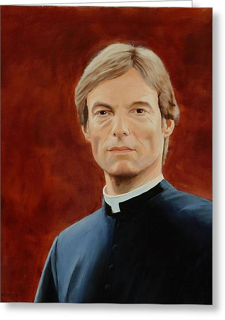 Richard Chamberlain Greeting Card by Lepercq Veronique