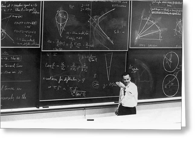 Richard Feynman Greeting Card by Us Department Of Energy