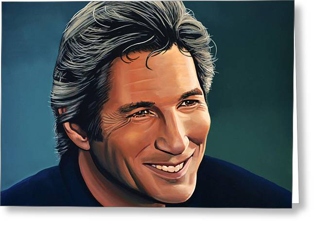 Golden Globe Greeting Cards - Richard Gere Greeting Card by Paul  Meijering