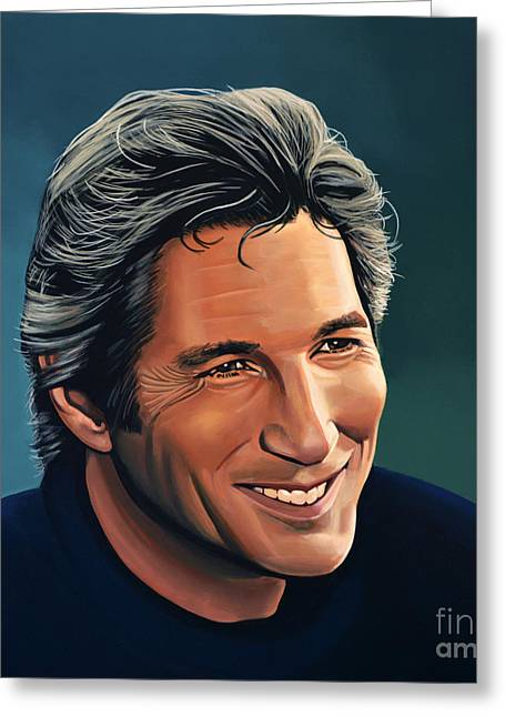 Double Greeting Cards - Richard Gere Greeting Card by Paul Meijering