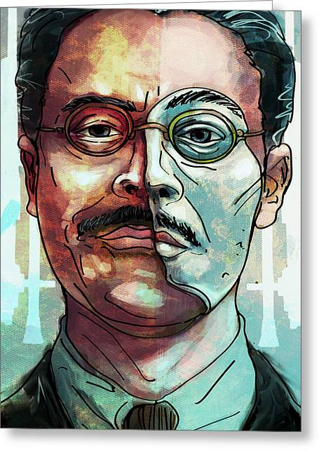 Harrow Greeting Cards - Richard Harrow Greeting Card by Jeremy Scott