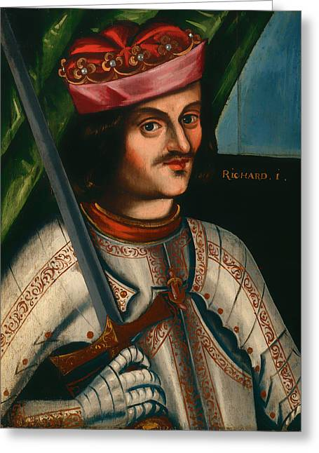 Mustache Greeting Cards - Richard I Greeting Card by British School