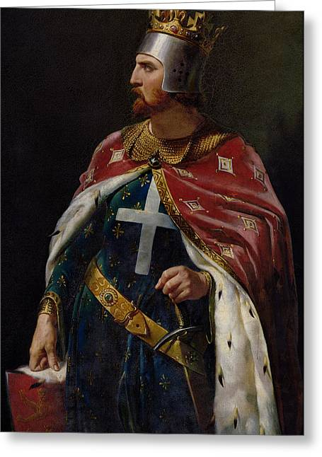 Profile Portrait Greeting Cards - Richard I the Lionheart Greeting Card by Merry Joseph Blondel